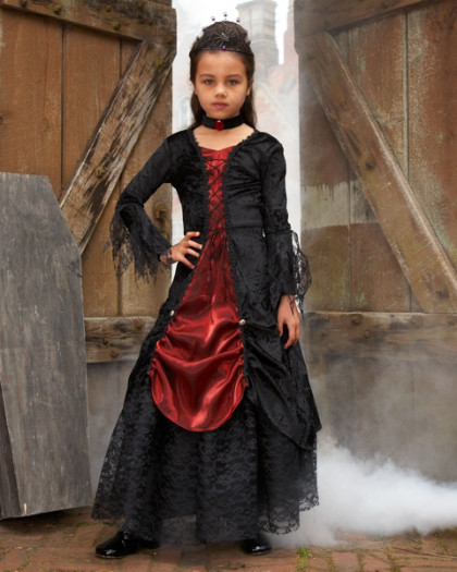 Home gothic vampira girls costume