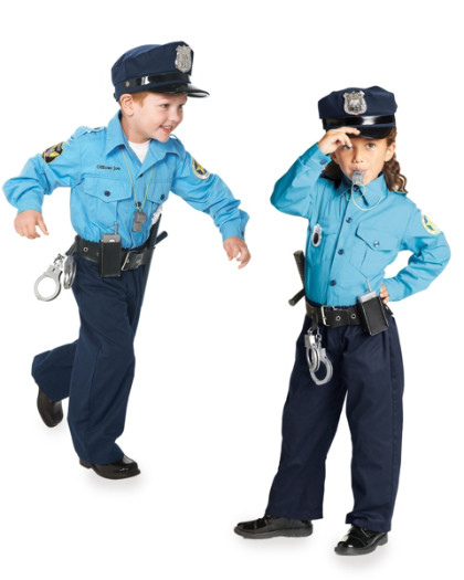 personalized jr. police officer childrens costume