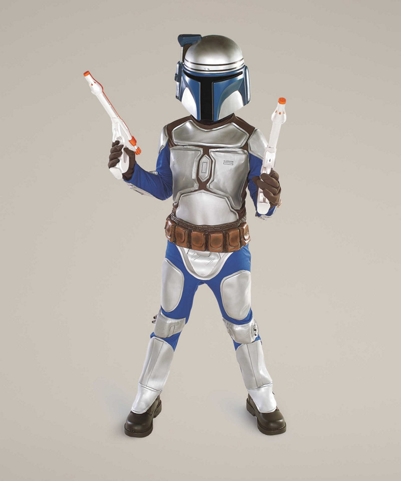 Jango Fett Costume For Kids Star Wars Silver, 8-10 Chasing ...