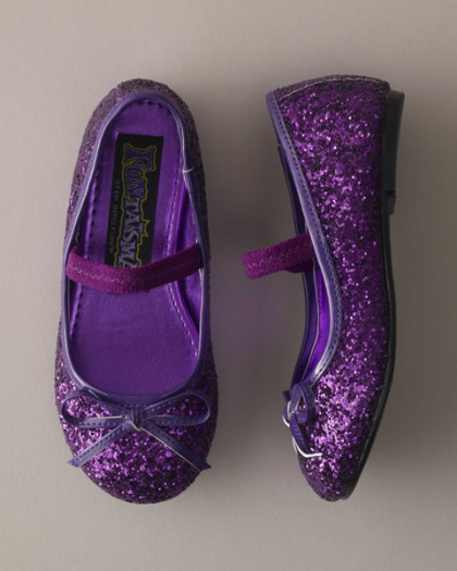 Girls Purple Sparkle Play Shoes