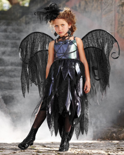 Home scary fairy girls costume