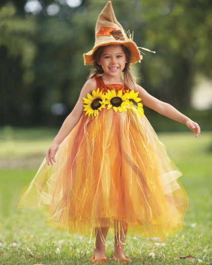 Toddler Girl Scarecrow Halloween Costume Sweet Scarecrow Girls Costume
