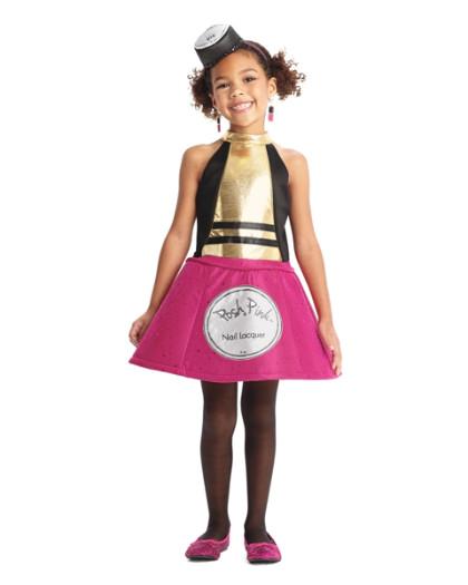 Posh Pink Nail Polish Costume For Girls