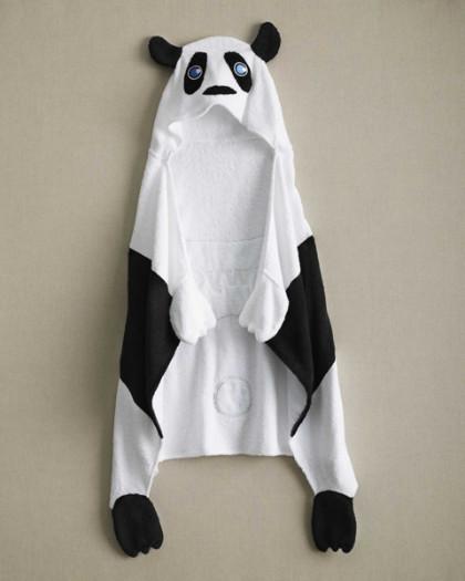 Kids Personalized Panda Hooded Towel
