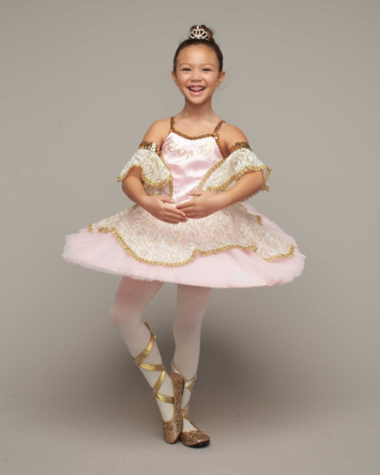 Gold stage curtains - Pink Prima Ballerina Costume For Girls
