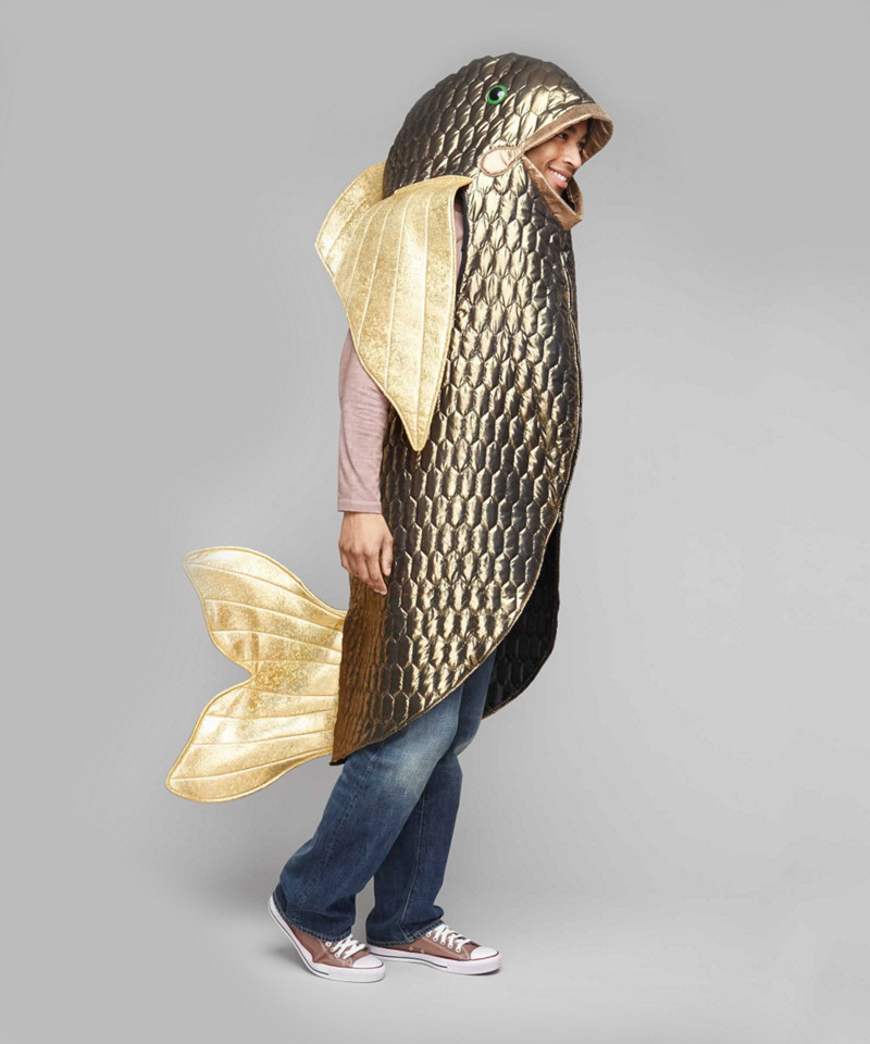 Bigeye bass fish costume for adults gold 42 44 chasing for Fish costume adult