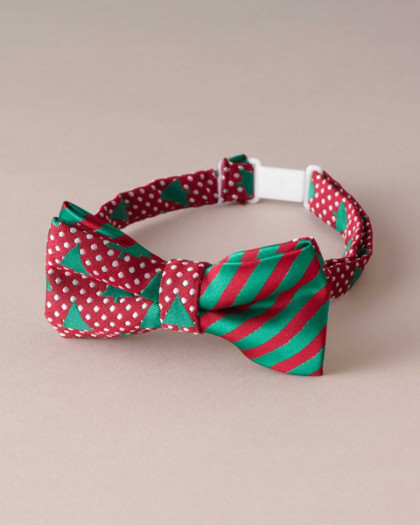 Boys Mod Christmas Tree Bow Tie